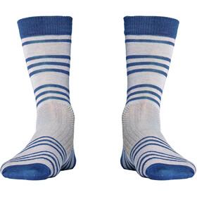 Röjk Everyday Merino Socks Unisex Berry Blue Stripe